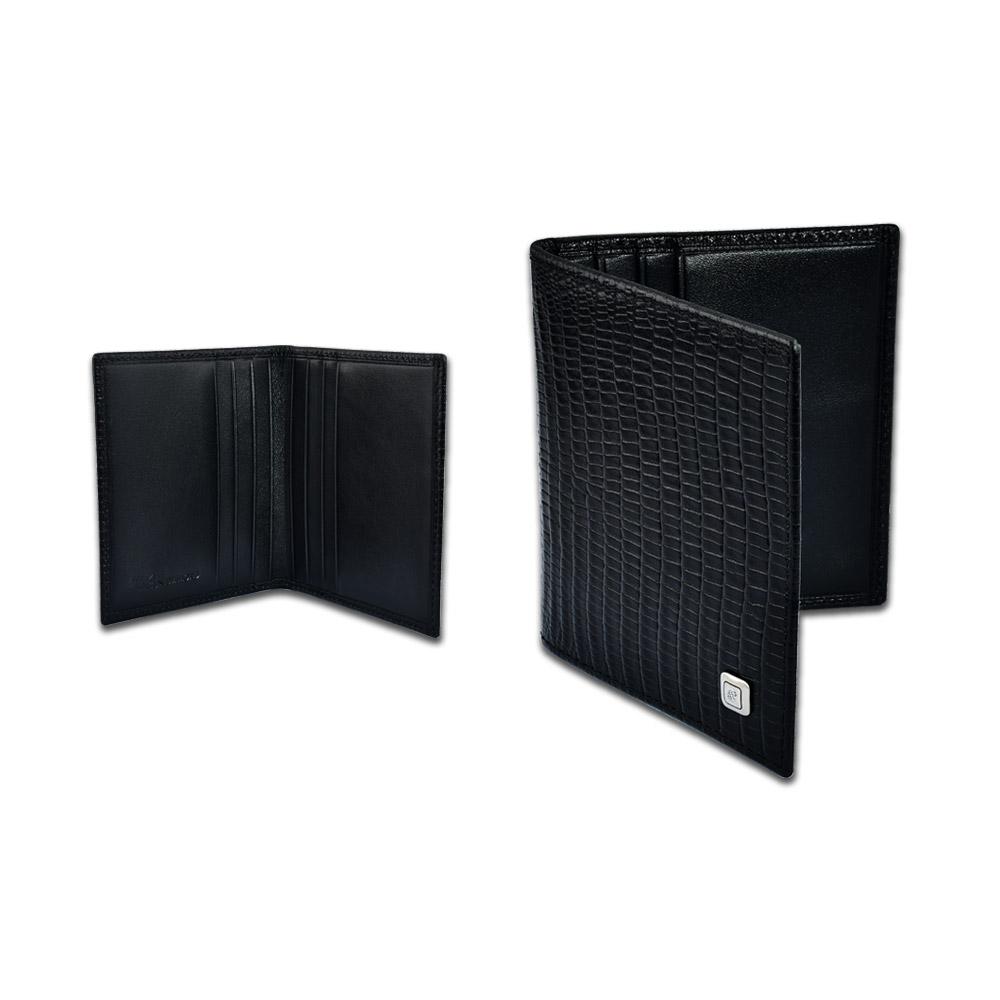 Pırlantalı Deri Kredi Kartlık - Kimlik - siyah