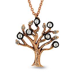 Nazende Hayat Ağacı Elmas Kolye