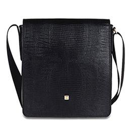 Pırlantalı Deri Çanta - siyah