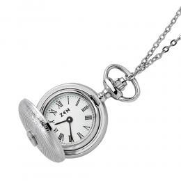 Pırlantalı Çelik Saat Kolye