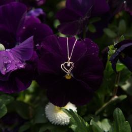 Aşk Koleksiyonu Kalp Pırlanta Kolye