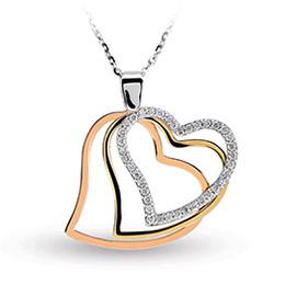 Aşk Koleksiyonu Üçlü Kalp Pırlanta Kolye