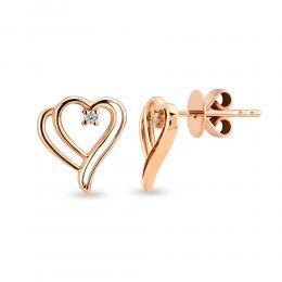 Aşk Koleksiyonu Kalp Pırlanta Küpe