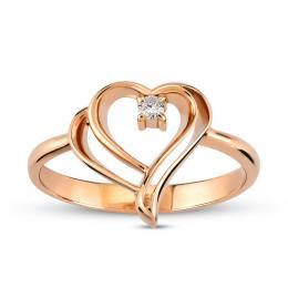 Aşk Koleksiyonu Kalp Pırlanta Yüzük