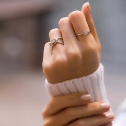 Reina Pırlanta Yüzük- işaret parmağındaki