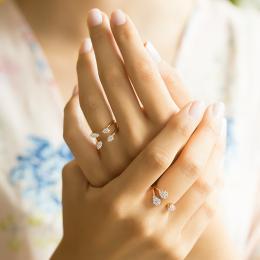 Pırlanta Yüzük- yüzük parmağındaki